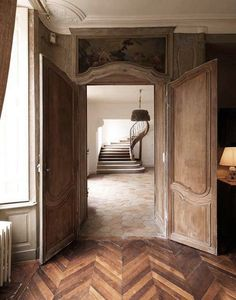 Beautiful wood floors and details.