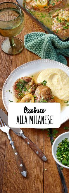 Ossobuco Milanese Fleisch Haxe Kalb Zwiebel Haupt Gericht Herzhaft Deftig Lecker Ofen Zart Zeit Italienisch Italien