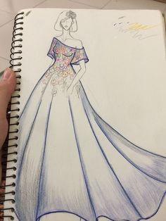 Dress Design Drawing, Dress Design Sketches, Fashion Design Sketchbook, Girl Drawing Sketches, Fashion Design Drawings, Art Drawings Sketches Simple, Fashion Sketches, Fashion Model Drawing, Fashion Drawing Dresses