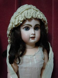 Lovely Old Bonnet for Antique Baby Composition German French Bisque Doll   eBay