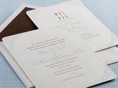 Scrolling Frame : Wedding invitation set « Sesame Letterpress