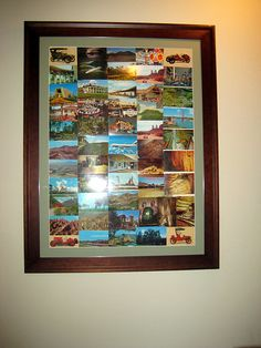 In need of more cheap decor? Could be one way to display postcards of cool places I've been to.