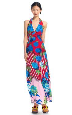Shop Marc Jacobs Oversize Floral Long Halter Dress - Ready-to-Wear Trunkshow at Moda Operandi | Moda Operandi
