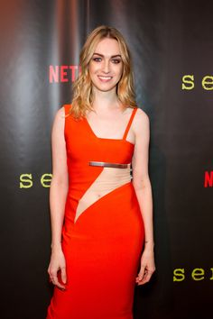 Jamie Clayton We bet you didn't know that these 31 celebs were transgender. Check out all of the pics here and prepare to be amazed by these transformations! Jamie Clayton, Jennifer Syme, Transgender Model, Orange Dress, Woman Crush, Mannequin, That Way, Role Models, Lady In Red