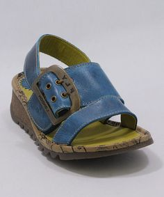 Take a look at this Blue Tuk Sandal by FLY London on #zulily today!