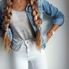 White denim and Jean jacket