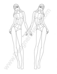 Free male fashion croquis to download. Really helpful and