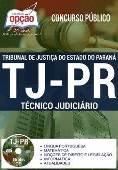 Apostila Concurso TJ PR 2017 Técnico Judiciário PDF Download Baixar Digital R$45,00 ou Impressa R$70,00 - Apostila Concurso 2017