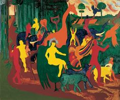 Bob Thompson, Triumph of Bacchus,1964 98.19
