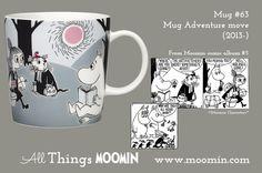 Moomin mug Adventure move by Arabia - Moomin Moomin Mugs, Tove Jansson, Finland, Childhood, Adventure, Tableware, Troll, Cups, Design