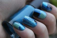 Blue blue blue! hair-nails