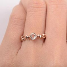 pearl engagement ring unique Diamond wedding ring Delicate Simple Bridal Jewelry Birthstone Promise Anniversary Mothers day gift for women - Fine Jewelry Ideas Engagement Ring Rose Gold, Diamond Wedding Rings, Bridal Rings, Vintage Engagement Rings, Bridal Jewelry, Morganite Engagement, Gold Jewelry, Wedding Bands, Irish Jewelry
