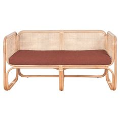 Latitude rattan two seater with elegant cushion colours. Sofa Couch Bed, Rattan Sofa, Vanity Bench, Sofas, Love Seat, Cushions, Indoor, Colours, Interior Design