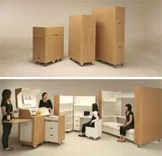 Foldable Home Interiors - Small Living Spaces Call for Foldable Furniture (VIDEO)