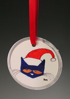 Pete The Cat Ornament by James Dean