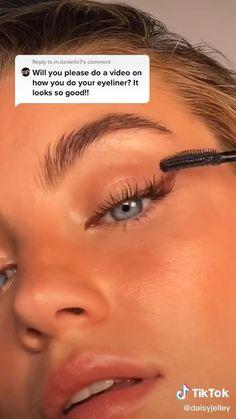 #eyeliner #makeuptutorial #naturalglam #makeup #glam #eyelinertutorial Dewy Makeup, Makeup Eye Looks, Eyeshadow Makeup, Natural Makeup, Face Makeup, Natural School Makeup, Natural Everyday Makeup, Makeup Looks Tutorial, Eyeliner Tutorial