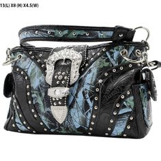 Cowgirl Bling Ranch, LLC - Rhinestone Buckle Camo Concealed Carry Purse Blue, $48.99 (http://www.cowgirlblingranch.com/products/rhinestone-buckle-camo-concealed-carry-purse-blue.html)