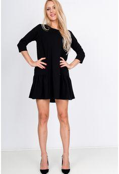 Vzdušné koktejlové krátke čierne šaty - ROUZIT.SK Black, Dresses, Fashion, Vestidos, Moda, Black People, Fashion Styles, Dress, Fashion Illustrations