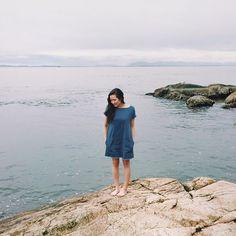 Seaside in the Nori dress.