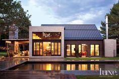 Modern Poolside Rear Exterior