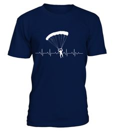 # Paragliding Heartbeat Tshirt .  This durable, comfortable T-Shirt is sure to be a hit, whether you're buying it as a gift for somebody special or wearing it yourself.
