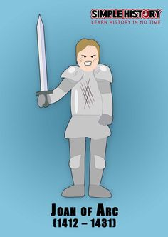 Joan of Arc – Joan of Arc led a French revolt against the occupation of the English. Joan Of Arc, History Channel, History Books, World Cultures, Family Guy, English, Led, French, Learning