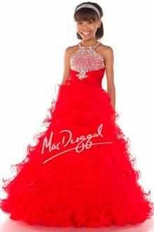 Macduggal sugar #red #pageantgown #kids