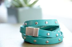 The Perfect Pear: DIY // Leather Studded Bracelet