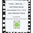 """This download uses words from Lesson 3 in the Wilson Reading Program for 11 different """"I Have....Who Has...."""" games to use with your students.  Eac..."""
