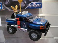 Lego Loki...on a Jeep for some reason.