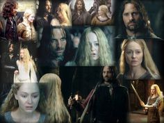 Realizing his lack of female characters, Tolkien originally created Eowyn to be Aragorn's love interest. (And, in the books, Arwen does not battle or outride wraiths. Eowyn was always the only female warrior in LOTR.) <True