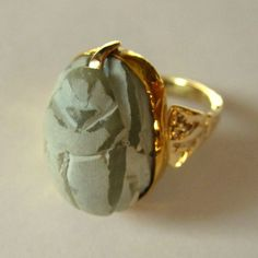 Scarab Ring, Ancient Egyptian, Gold, 300 - 700 BC