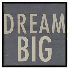 Dream Big Wall Art
