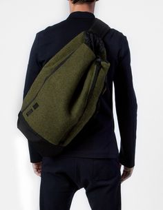 Duffle bag made from vintage military blanket