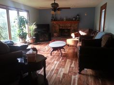 """""""We removed the carpet throughout the entire down stairs, steps, upstairs hallway and our master bedroom and installed Tobacco Road Acacia. It was simple, easy and totally beautiful!"""""""