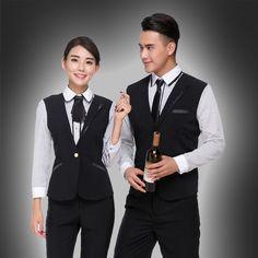Waistcoatt for Hotel  Uniform FOR HOTEL   Coffee Shop  Long Sleeve Catering Hotel Front Desk Waistcoat Uniform