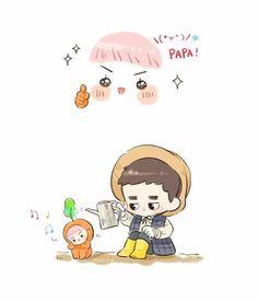 Kyungsoo and carrot sehun 3 Exo Cartoon, Exo Fan Art, Chansoo, Exo Members, K Idol, Kpop Fanart, Kyungsoo, I Fall In Love, Chibi