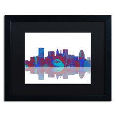 Baltimore Maryland Skyline II by Marlene Watson Framed Graphic Art