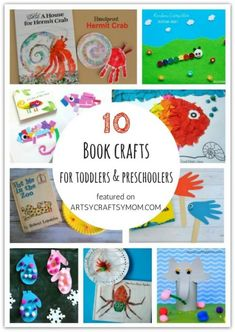 Don't let little kids feel left out when crafting! Here are 10 Book crafts and activities for toddlers and preschoolers, designed specifically for them! Toddler Storytime, Toddler Fun, Toddler Preschool, Toddler Crafts, Crafts For Kids, Art Activities For Toddlers, Preschool Activities, Preschool Readiness, Emotions Preschool