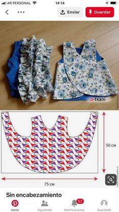 Photo by Costura Criativa on February Kids Dress Patterns, Kids Clothes Patterns, Baby Knitting Patterns, Clothing Patterns, Sewing Clothes, Baby Doll Clothes, Baby Dress Design, Baby Frocks Designs, Kids Outfits