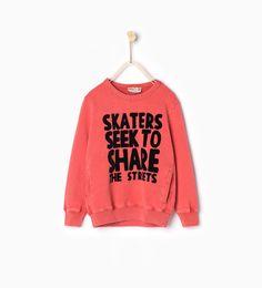 Afbeelding 2 van Sweatshirt met zakken van Zara