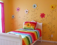 cute flowers for a girl's room