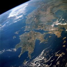 Greece seen from space