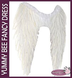 Angel Fairy Wings Black White Red Fancy Dress Costume Hen Night Feathers Outfit | eBay