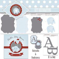 kit decorativo Elefante   *Babyshower niño