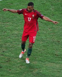 #EURO2016 Nani of Portugal celebrates after winning the Euro 2016 quarterfinal football match between Poland and Portugal at the Stade Velodrome in Marseille...