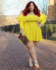 Badfeet👣 plus size women, curvy plus size, plus size girls, curvy women Looks Plus Size, Curvy Plus Size, Plus Size Girls, Plus Size Women, Vestidos Plus Size, Plus Size Dresses, Plus Size Outfits, Curvy Women Fashion, Womens Fashion