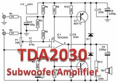 Sub Woofer Amplifier 2 Electronics Projects For Beginners, Hifi Amplifier, Hardware Software, Electronic Engineering, Planer, Web Design, 1, Mehndi Designs, Electronic Schematics