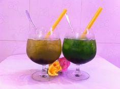 Pha chế lục trà trân châu hương trái cây