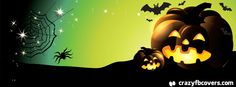 Spooky Pumpkin Halloween Facebook Cover - Facebook Timeline Cover Photo - Fb Cover